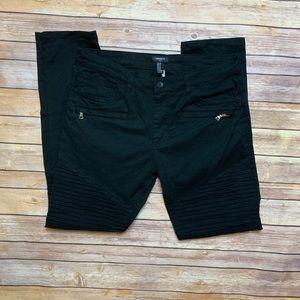 [Forever 21] Black Moto Pants